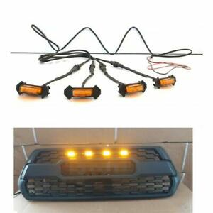 4pack Led Amber Grille Lights Fit For Toyota Tacoma Trd Pro 2016 2018 New 2020
