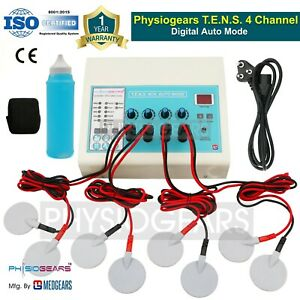 Medgears Electrotherapy Physiotherapy Machine Lcd Display Therapy Tens 4 Channel