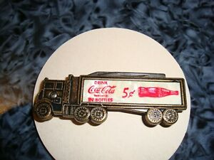 Coca Cola  Mother Of Pearl -Truck/ Pocket Knife By Colonial Providence RI USA