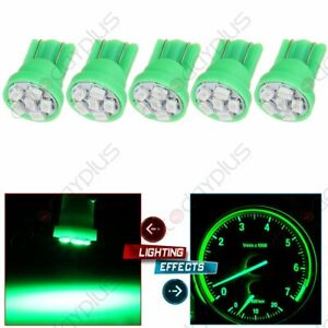 5 X T10 194 168 2825 5 5050 Smd Led Green Super Bright Car Interior Light Bulbs