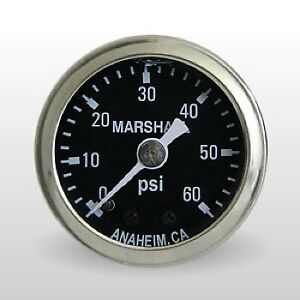 Marshall Fuel Pressure Gauge Ms00060 0 To 60 Psi 1 1 2 Full Sweep Mechanical