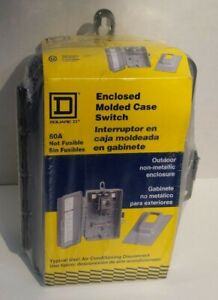 Square D Enclosed Molded Case Switch Non Fusible Circuit Breaker 60a 60 Amp 240v