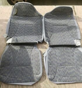 1998 2002 Dodge Ram Oem Cloth Truck Seats Factory Covers Grey Front And Rear
