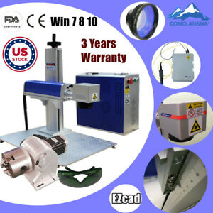 Us 50w Split Fiber Laser Marking Engraver Rotary Axis With Raycus Laser For Guns