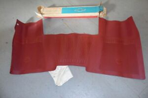Nos Chevrolet 1967 1968 1969 1970 Accessory Front Floor Mat Red Impala 5