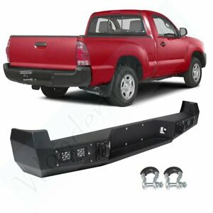 New Complete Steel Rear Bumper For Toyota Tacoma 2005 2015 W light Pickup