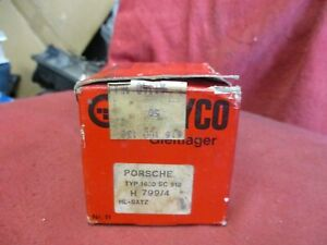 Nos Original Glyco Porsche 356 c 356 sc 912 Crankshaft Main Bearing Set New 0 25