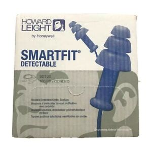 100 Pack Honeywell Detectable Ear Plugs Pack Of 100 sdt 30 Corded Blue