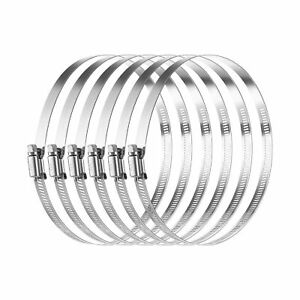 Miahart 6 Inch Hose Clamp Adjustable 304 Stainless Steel Duct Clamps New
