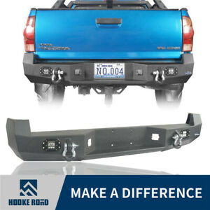 Hooke Road Discovery Rear Bumper W Floodlight D Rings For Toyota Tacoma 05 15