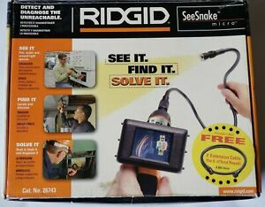 Ridgid seesnake Micro Waterproof Inspection Camera 26743 3 Ft Extension Cable