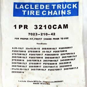 Laclede 3210 Cam Truck Snow Tire Chains