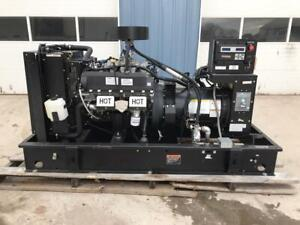 __60 Kw Generac Generator Set 12 Lead Reconnectable 120 240 Volts Low Hours