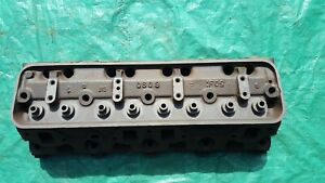 Oem 1956 Lincoln Y Block 368 Cylinder Head Ecu c Core