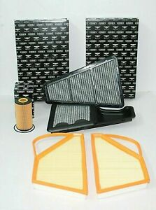 Bentley Continental Gt W12 Service Kit Engine Air Filter Oil Filter Set