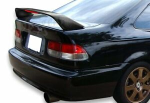 Real Carbon Fiber Rear Trunk Spoiler Led Brake Light Fit 96 00 Honda Civic 2dr