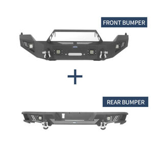 Front Rear Bumper W Winch Plate Textured Steel For Dodge Ram 1500 2013 2018