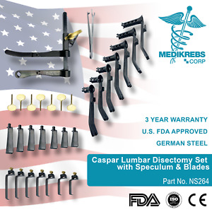Caspar Lumbar Disectomy Set With Speculum Blades Surgical Instruments Or Grade
