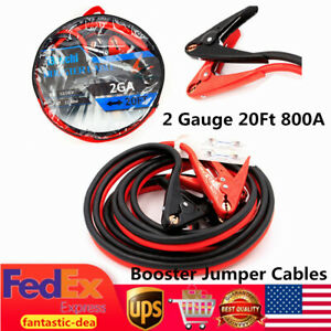 20ft 800a 2 Gauge Vehicle Quick Connect Jumper Power Car Battery Booster Cables