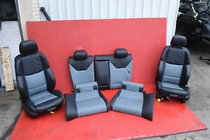 Bmw E92 M3 M Sport Leather Front Rear Lumbar Support Seat Chair Set 2 Tone Oem