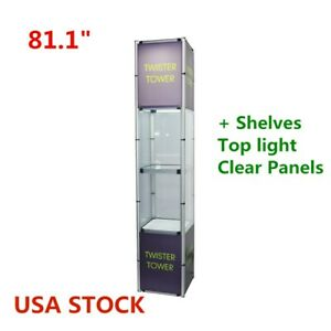 Usa 81 1 Square Portable Aluminum Folding Twister Tower Display Case Rack