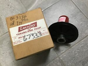 Lovejoy Type 180 Variable Speed Pulley 7 8 Bore 68514418677 New In Box