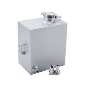 Universal Aluminum Radiator Expansion Recovery Water Overflow Tank 2 5l Silver