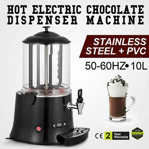 Ce 10l Hot Chocolate Machine Electric Dispenser Bain Marie Mixer Wine 220v
