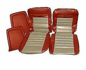 65 Mustang Coupe Deluxe Or Pony Interior Front Rear Seat Cover Set