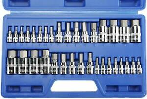 34pc Hex Allen Master Socket Bits Set Sae And Metric S2 Steel Hex Bit Socket Kit
