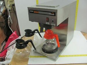 New Horizons Series 2000 Commercial Coffee Maker With 3 Carafes Model Nh2000