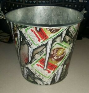 JAGERMEISTER BUCKET PARTY PAIL BAR PUB MAN CAVE ADVERTISING HANDLE LIQUOR TIN
