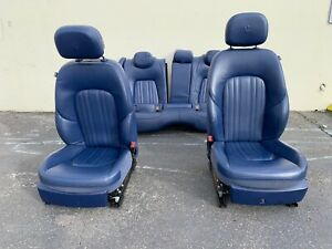2016 Maserati Ghibli M157 Front And Rear Seats Blue Used Leather Note