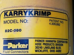 Kerry Krimp Model 82c 080 Hydraulic Hose Crimping Machine