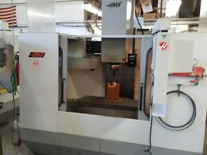 Used Haas Vf 2 Cnc Vertical Machining Center 30x16 Mill Ct40 4th Axis Ready 1994