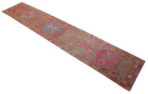 3x14 Rug Runner Kurdish Rug Hand Knotted Muted Long Runner Actual 2 10x14 5 Ft