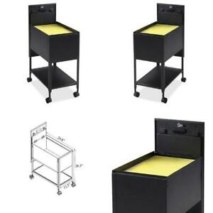 Office File Cabinet 1 Drawers Filing Cart Steel Lockable Black Rolling Organizer
