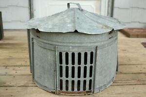 Vintage Galvanized Chicken Coop Hen Brooder Nesting House