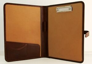 Leather Clipboard Conference Folder A4 Brown Leather Clipboard