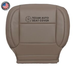 2015 Chevy Silverado 3500hd Ltz Driver Bottom Synthetic Leather Seat Cover Tan
