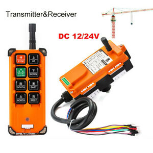 12 24v Radio Wireless Industrial Remote Control Transmitter receiver Hoist Crane