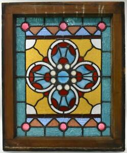 Antique American Victorian Stained Jeweled Window Circa 1890 S