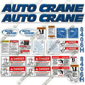 Auto Crane 8406h Decal Kit Crane Truck Replacement Stickers 3m 7 year Vinyl