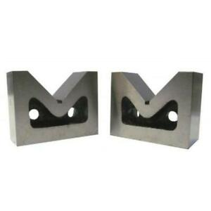 Vee Blocks 3 Matching Pair 75 X 56 X 31 Mm Cast Iron V Block Set