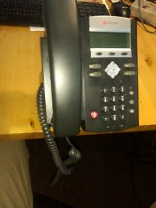 Used Polycom Ip 335 Voip Sip Phone 2 Line Free Shipping lots Of 4 Phones