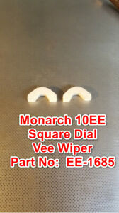 Monarch Tailstock 10ee Square Dial Metal Lathe Part Ee 1685 Felt Vee Wiper Set
