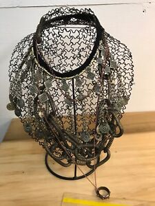 Two Metal Necklace Displays 11 Tall Making Display Packaging Supplies