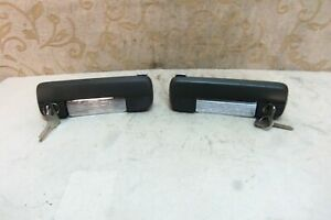 Pair Nos Fiat 127 128 Coupe 1100s 1300s Grey Chrome External Door Handle