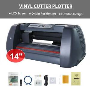 14 Vinyl Cutter Plotter Cutting Sign Maker Sticker Print Graphics Lcd Screen