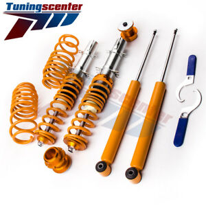 Street Suspension Shocks Coilover Kit For Vw Golf 4 Mk4 Rabbit Brand New